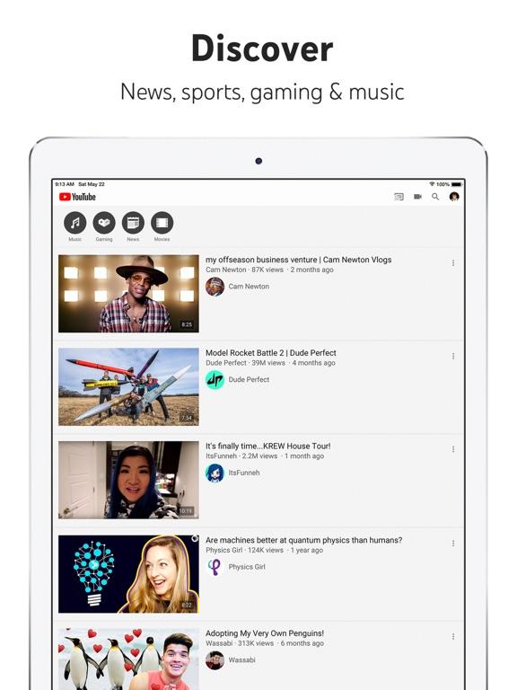 YouTube: Watch, Listen, Stream-ipad-1