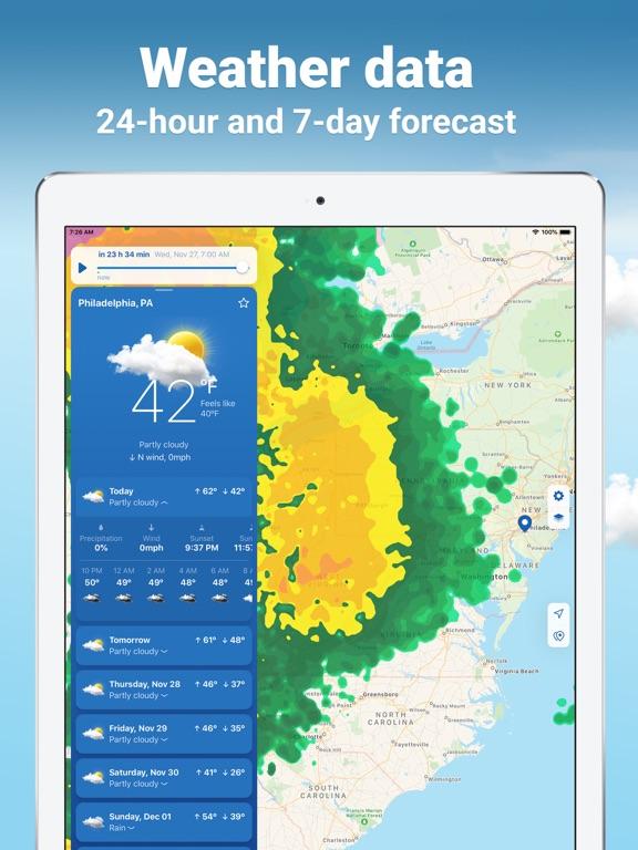 iPad Image of NOAA Weather Radar Live
