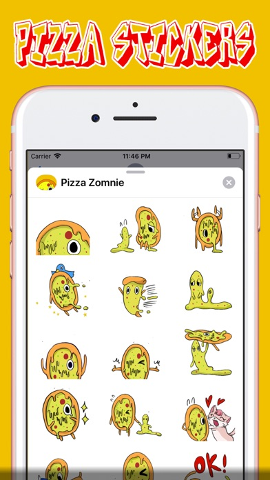 Screenshot for Pizza Stickers in United States App Store