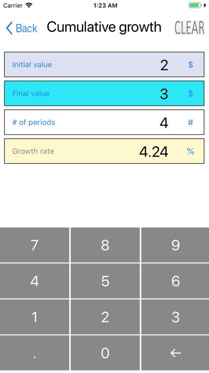 Simple percentage calculator screenshot-3