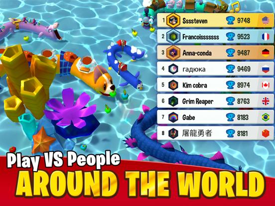 Snake Rivals - io snakes game screenshot 11
