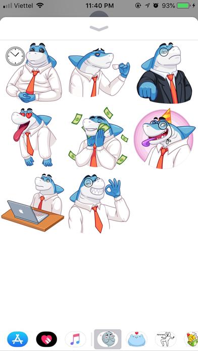 Shark Boss Emoji Stickers screenshot 2