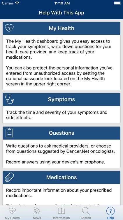 Cancer.Net Mobile screenshot-8
