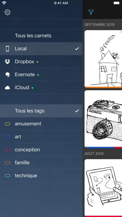 Screenshot #2 pour Carbo › Notes et dessins