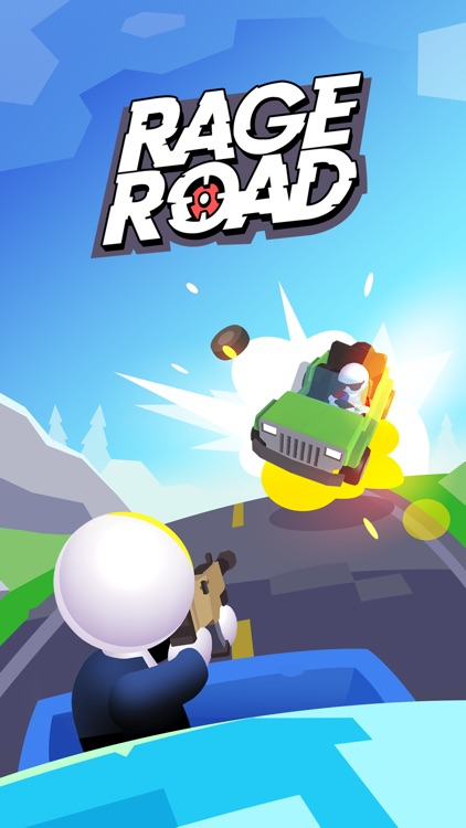 Rage Road - Car Shooting screenshot-4
