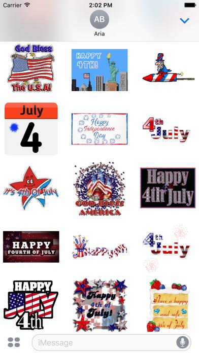 Happy Independence Day Sticker screenshot 3