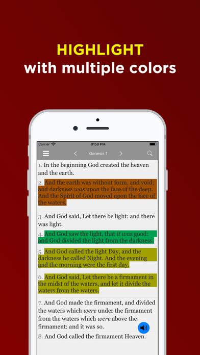 KJV Bible Offline - Audio KJVのおすすめ画像1