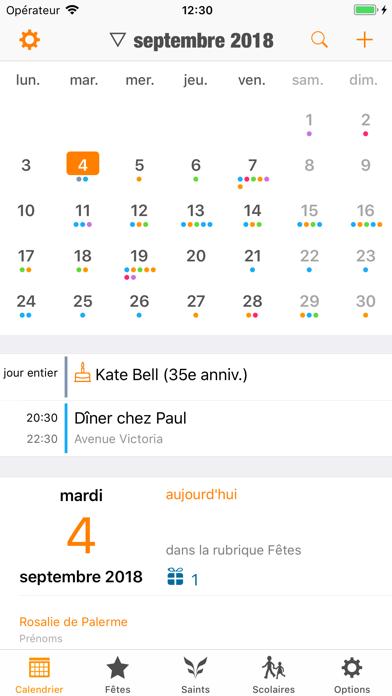 France Agenda iphone captures décran