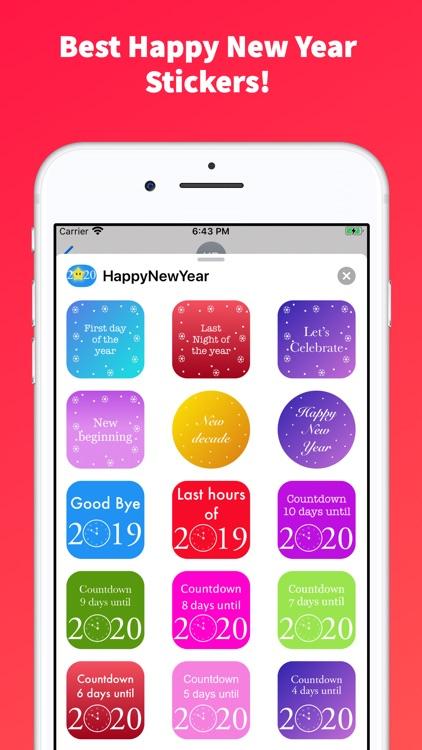 Happy New Year Emoji Stickers!