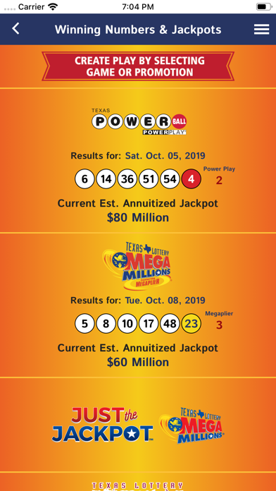 Texas Lottery Official App By Igt Global Solutions Corporation Ios United States Searchman App Data Information