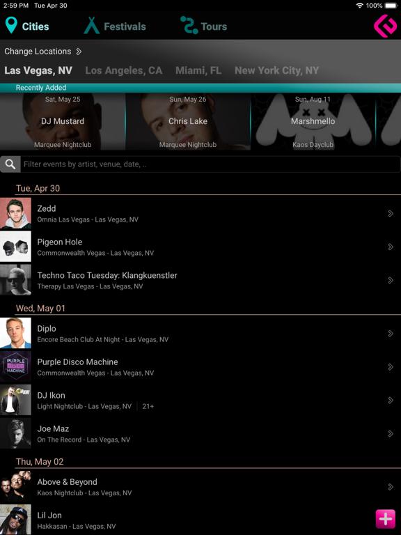 EDM Concerts screenshot