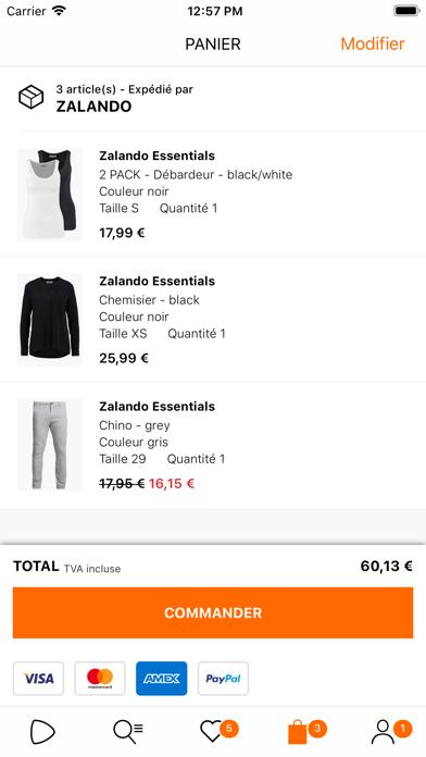 Zalando - Shopping mode sur pc