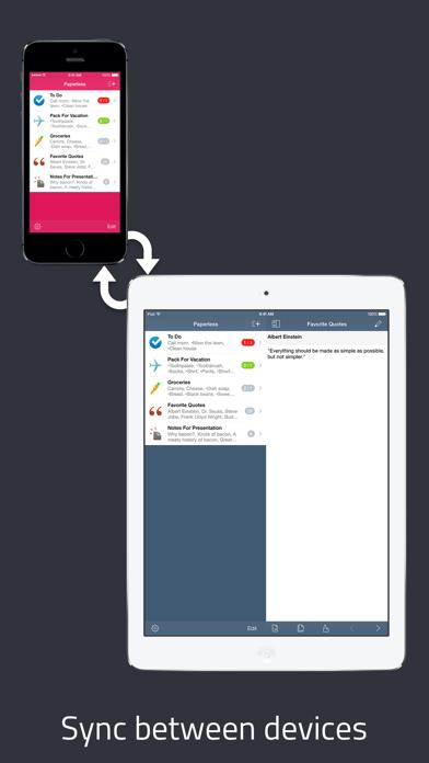 Paperless review screenshots