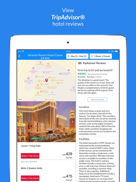Last Minute Travel Deals on Booking hotels, vacation homes, activities and flights screenshot