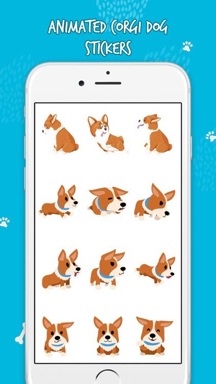 Cute Corgi Animated Emojis screenshot-5