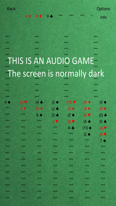 Blindfold Solitaire iPhone