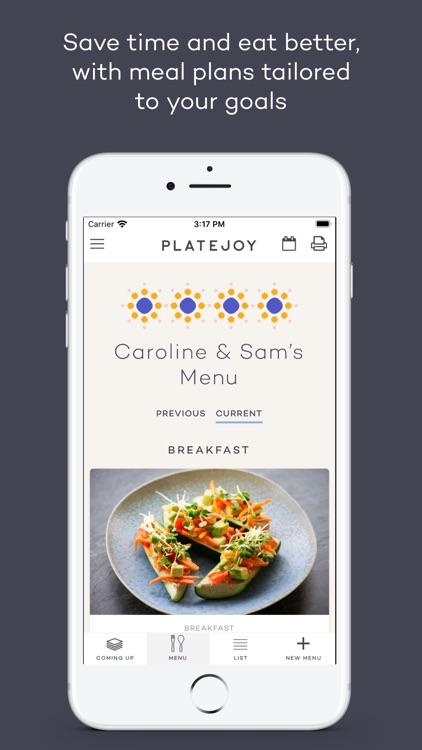 PlateJoy screenshot-0