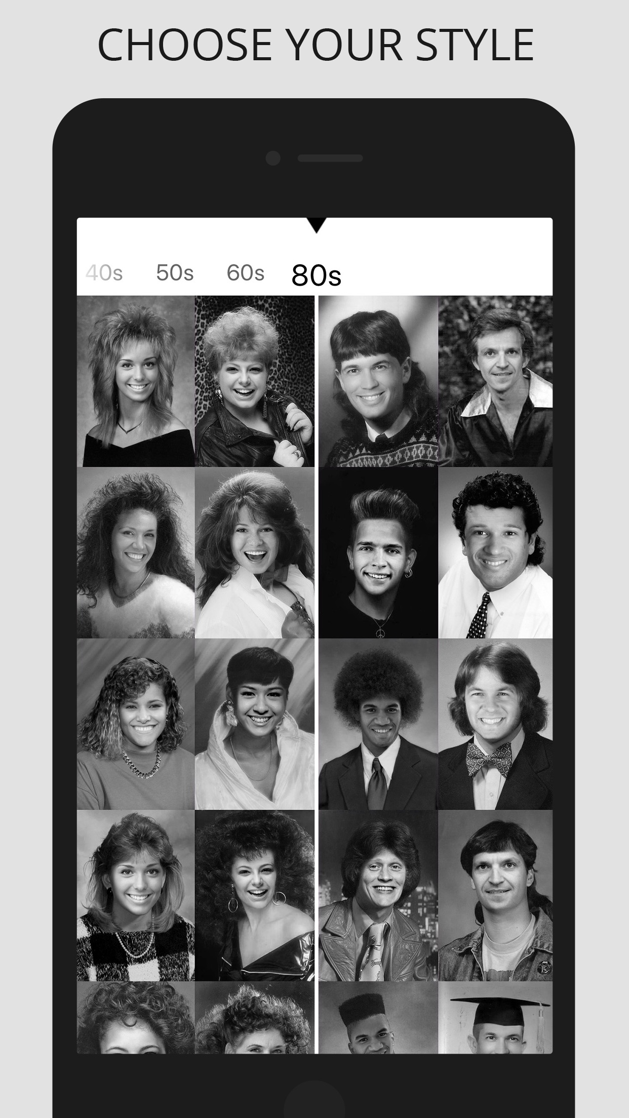 Screenshot do app OldBooth