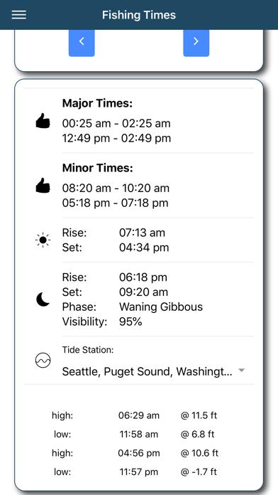 Fishing Times Pro review screenshots