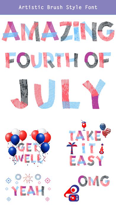 4th of July - CUstom FONt screenshot 4