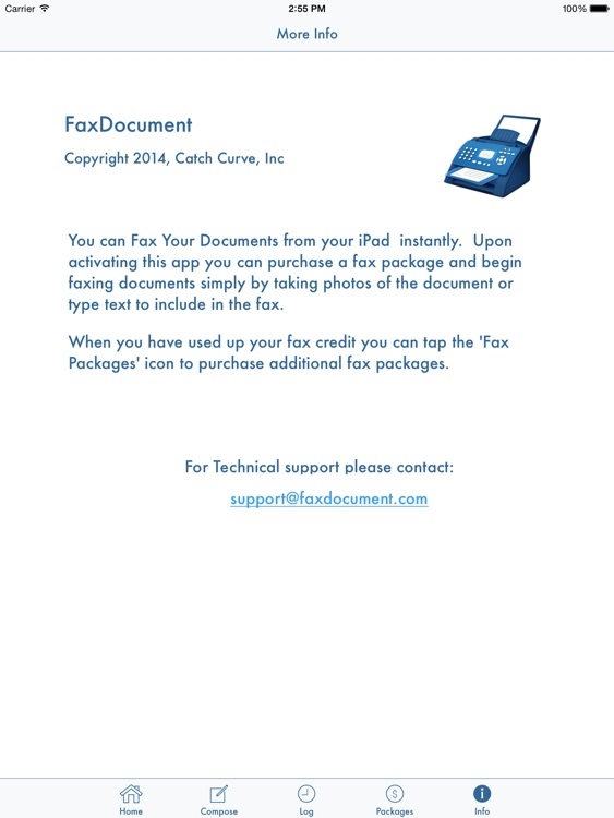 FaxDocument for iPad