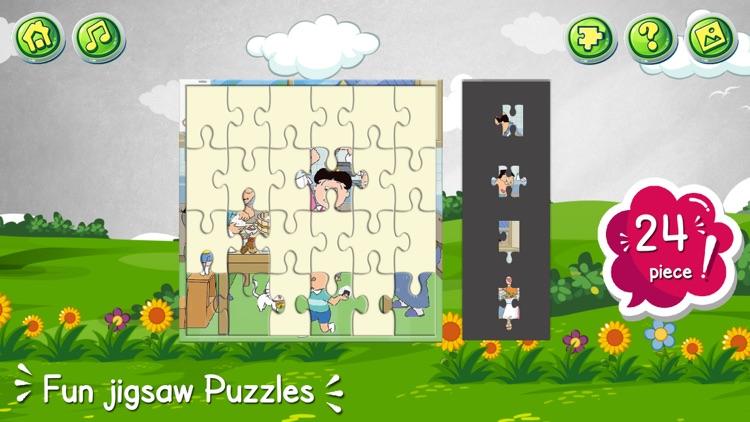 Cartoon jigsaw puzzles game screenshot-5