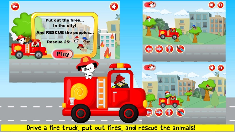 Fireman Game Fire-Truck Games screenshot-6