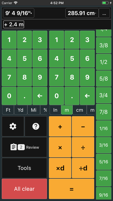 Feet and Inches Calculator screenshot four