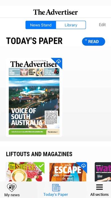 The Advertiser. Screenshot
