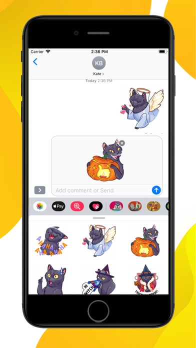 Screenshot for Spooky Cat Halloween Stickers in United States App Store