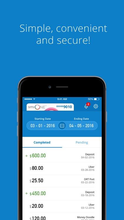 Platinum smiONE Visa Prepaid screenshot-3