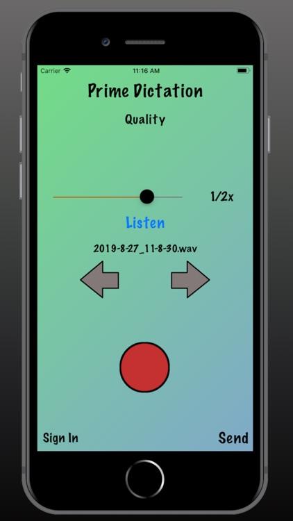 Prime Dictation - Audio Record screenshot-3