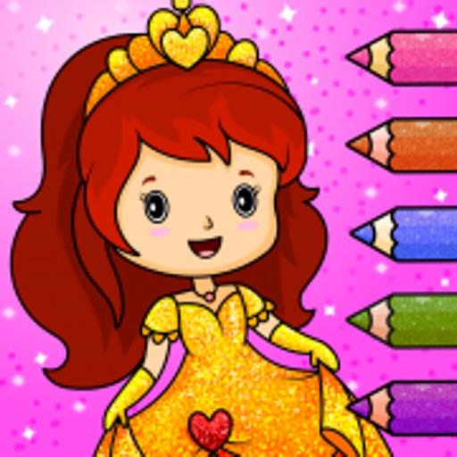 Princess Games : Coloring Book