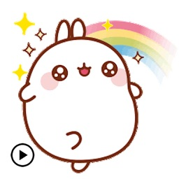 Animated Cute Molang Rabbit