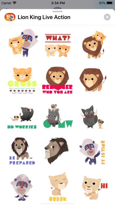 The Lion King Stickers screenshot 1