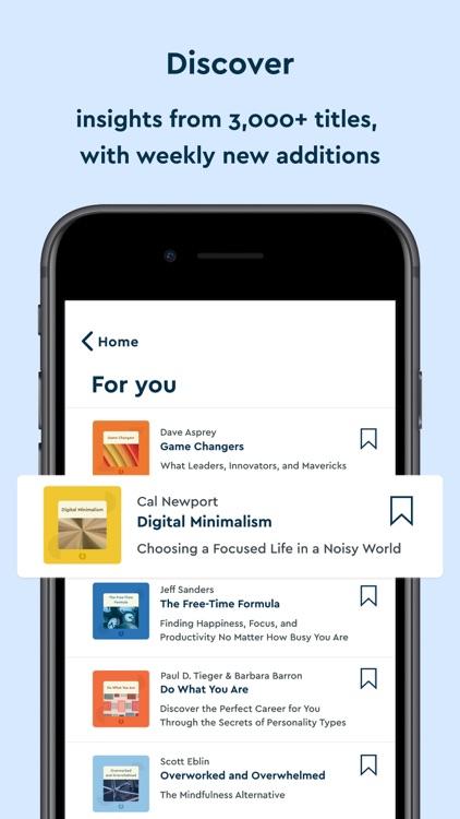 Blinkist: 15min Book Insights screenshot-4