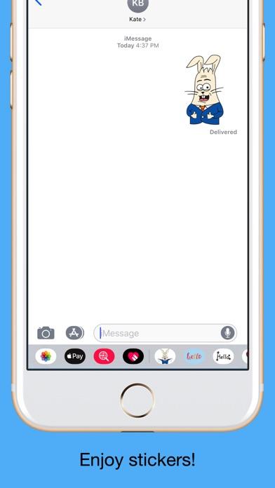 Office Rabbit emoji stickers screenshot 5