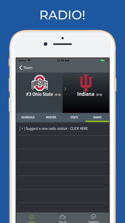 Indiana Football Schedules