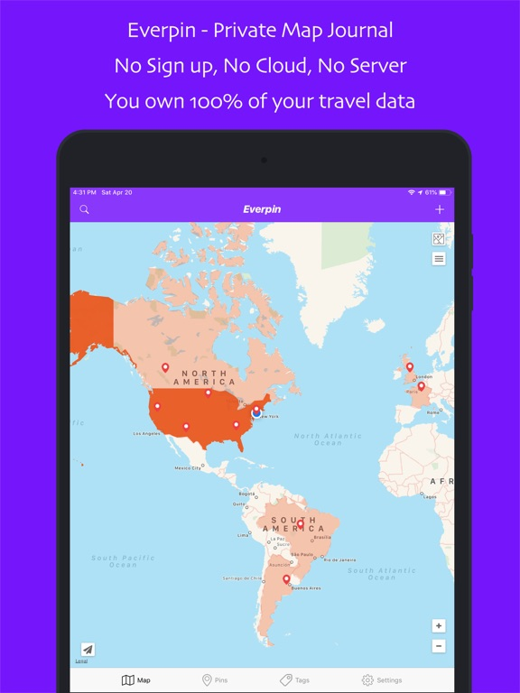 Everpin - Map Journal | App Price Drops on map pen, map editor, map humor, map notes, map statistics, map policy, map profile, map language, map ledger, map services, map organizer, map series, map poems,