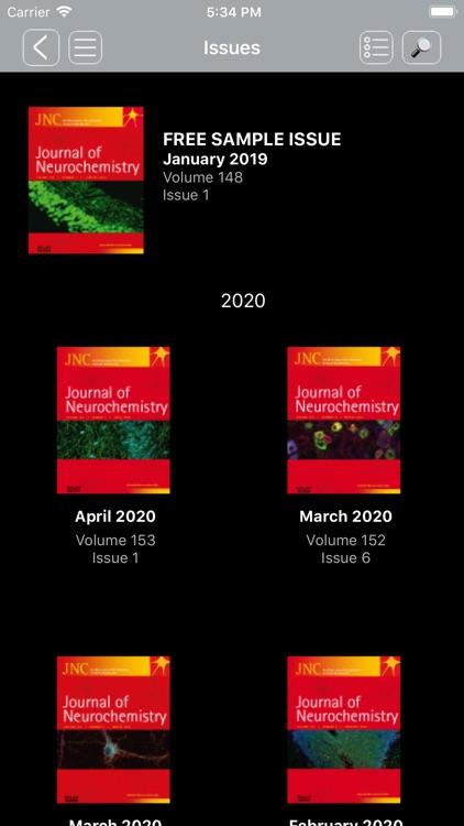 Journal of Neurochemistry screenshot-3