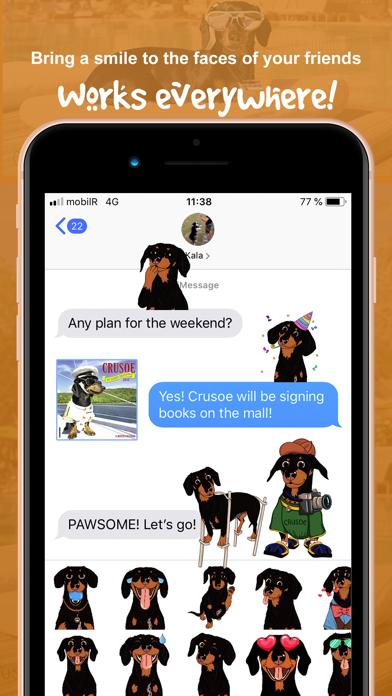 CrusoeMoji - Dachshund stickerのおすすめ画像6