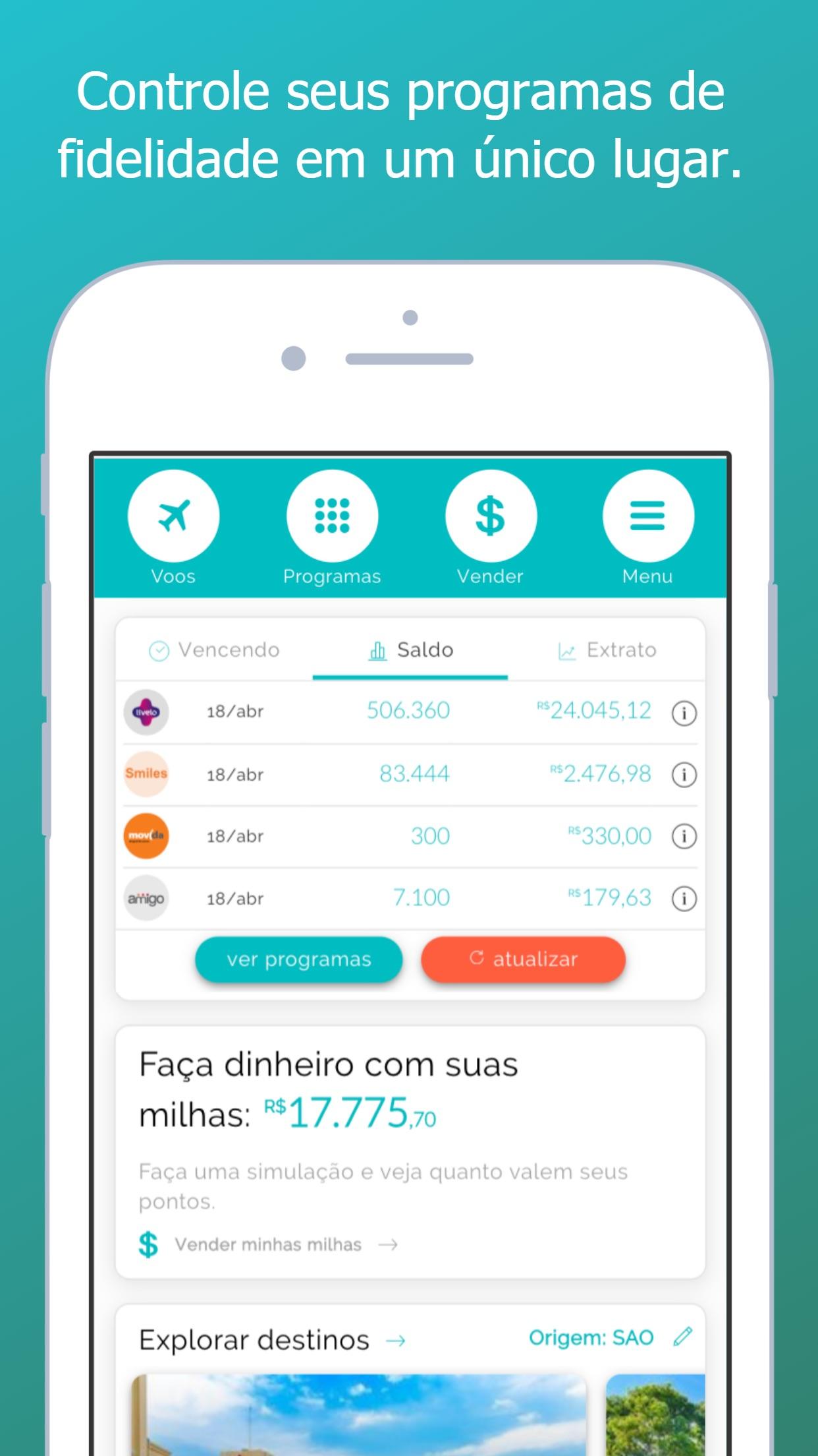 Screenshot do app Oktoplus -Controle seus pontos