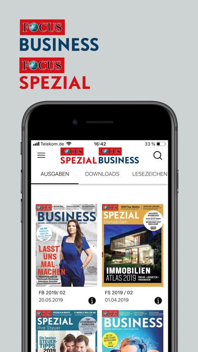 FOCUS BUSINESS & FOCUS SPEZIAL screenshot one