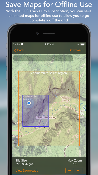 Screenshot for GPS Tracks in Switzerland App Store