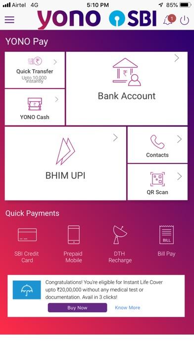 YONO SBI:Banking and Lifestyle screenshot three