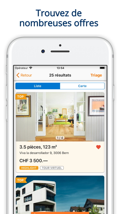 Screenshot #2 pour ImmoScout24 Immobilier Suisse