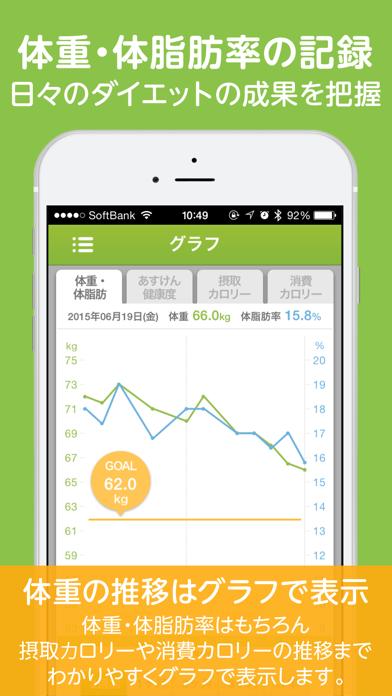 あすけんダイエット 体重記録とカロリー管理アプリ ScreenShot4