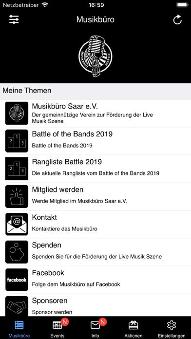 Screenshot #1 pour Musikbüro Saar