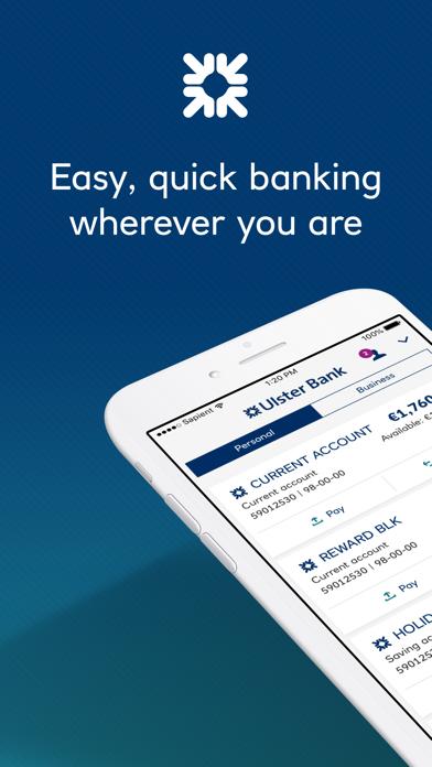 Ulster Bank RI Mobile Banking screenshot one