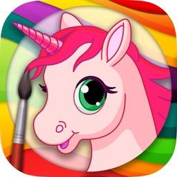 Unicorns Coloring Book